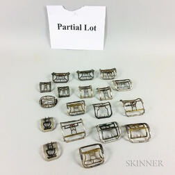Large Group of Shoe Buckles