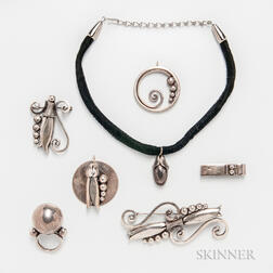 Seven Georg Jensen Inc. Jewelry Items