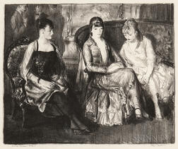 George Bellows (American, 1882-1925)      Elsie, Emma and Marjorie, Second Stone