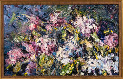 American School, 20th Century    Abstract Garden View