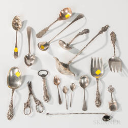 Group of Sterling Silver and Silver-plated Serving Pieces