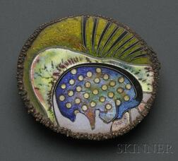 Important Cloisonne Enamel Paperweight, William Harper