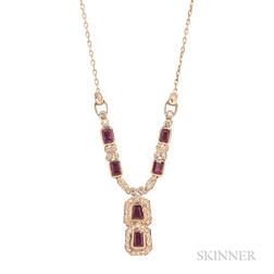 14kt Gold and Ruby Pendant