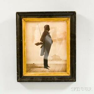 Framed Silhouette of a Schoolmaster in the Style of Edouart