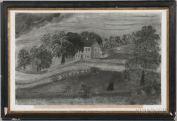 J.L. Elliott (active New Hampshire, Mid-19th Century), Easterly view of the House in which Count Rumford was Born in Woburn, Mass. Marc