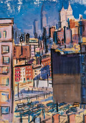 Ben Benn (American, 1884-1983)      Lower Manhattan