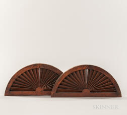 Pair of Small Architectural Fan Vents