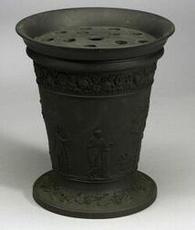 Large Wedgwood Black Basalt Potpourri Vase and Cover