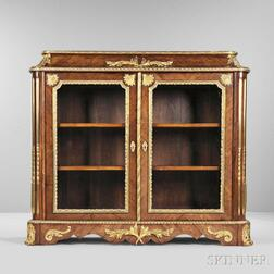 Napoleon III Tulipwood and Walnut Gilt-bronze-mounted Cabinet