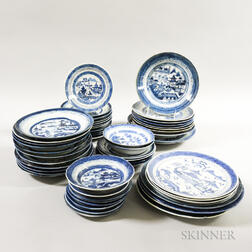 Approximately Fifty-four Canton Porcelain Plates