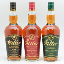 Weller Horizontal, 3 750ml bottles