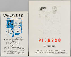 After Pablo Picasso (Spanish, 1881-1973)      Two Unframed Posters: Picasso Estampes