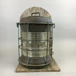 Durkee Marine Products Corp. Copper and Glass Ship Lantern
