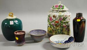 Six Assorted Asian Porcelain Articles