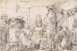 Rembrandt van Rijn (Dutch, 1606-1669)      Christ Seated Disputing with the Doctors