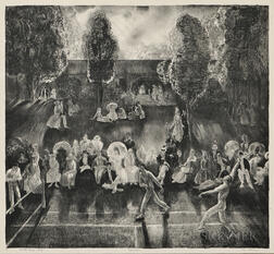 George Bellows (American, 1882-1925)      Tennis