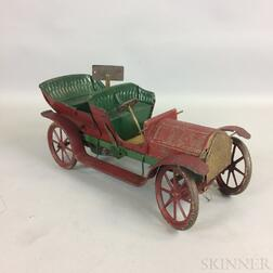 Early Painted and Pressed Steel Wind-up Toy Car