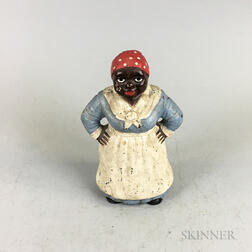Hubley Polychrome Cast Iron Mammy Doorstop