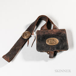 Civil War Cartridge Box and Strap