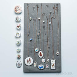 Group of Sterling Silver and Enamel Jewelry