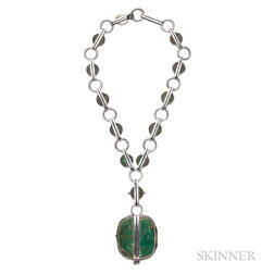 Sterling Silver and Hardstone Necklace, William Spratling