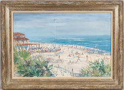 Martin C. Shallenberger (American, 1912-2007)      Untitled (Beach Club, Nantucket)