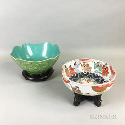 Two Enameled Bowls