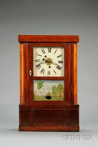 Mahogany Empire Shelf Clock by Sylvester Clarke