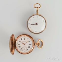 Bergeon 14kt Gold Hunter Case Watch and Petzold Fusee Watch