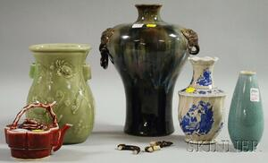 Five Assorted Asian Ceramic Articles