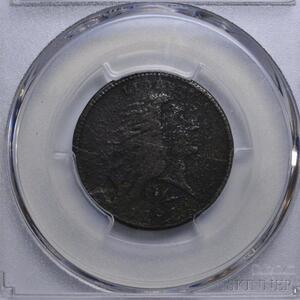 1793 Lettered Edge Flowing Hair Wreath Cent,
