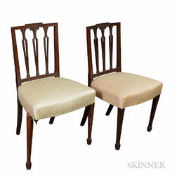 Pair of Federal Square-back Side Chairs