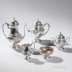 Five-piece Ellmore Sterling Silver Tea and Coffee Service