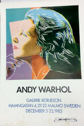 After Andy Warhol (American, 1928-1987)      Galerie Borjeson, Sweden, Exhibition Poster Featuring Ingrid Bergman