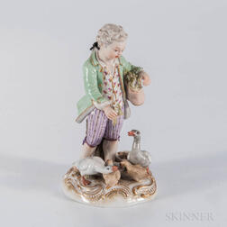 Meissen Porcelain Figure of a Boy