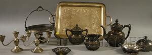 Group of Silver-Plated Table Items