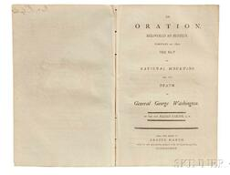 Parish, Elijah (1762-1825) An Oration, Delivered at Byfield, February 22d, 1800, the Day of National Mourning for the Death of General
