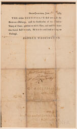 Washington, George (1732-1799) Certificate of Military Discharge for Joel Doolittle (1753-1813) with Badge of Merit, Signed, 9 June 178