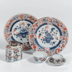 Six Imari Palette Export Porcelain Table Items