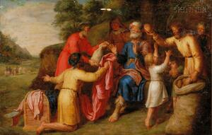 Manner of Pieter Pietersz Lastman (Dutch, 1583-1633)      Joseph's Brothers Returning to Jacob with Gifts