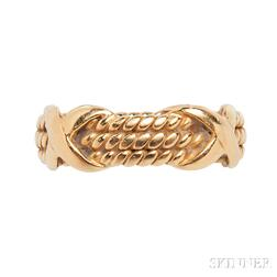 18kt Gold Rope Ring, Schlumberger, Tiffany & Co.