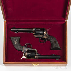 Cased Pair of Consecutively Serial Numbered 3rd Generation Colt Single-action Army Revolvers