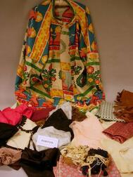 Assortment of Fabric, Remnants, Sewing Notions, and Miscellany