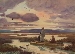 Aiden Lassell Ripley (American, 1896-1969)    Setting Decoys