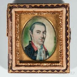 Association Miniature of Dr. Ebenezer Crosby after Charles Willson Peale (1741-1827)