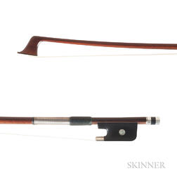 French Silver-mounted Violoncello Bow, Pierre Simon