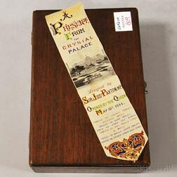 Stevengraph Woven Silk Crystal Palace Opening Commemorative Bookmark