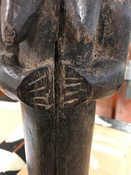 Fang Carved Guardian Figure