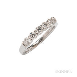 14kt White Gold and Diamond Five-stone Ring