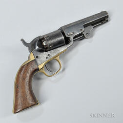 Colt 1849 Pocket Revolver and Colt Flask